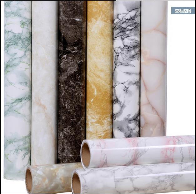 Купить с кэшбэком Self - adhesive marble wallpaper wallpaper pvc stickers waterproof oil thickening furniture renovation wall stickers-156
