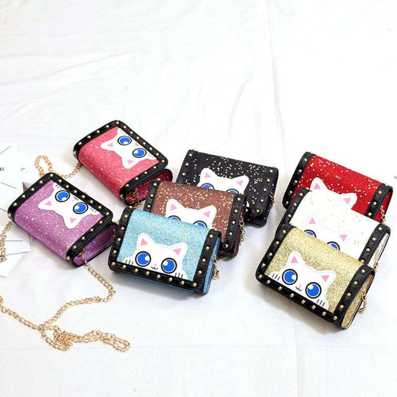Lovely Baby Girls Mini Messenger Bag Cute Sequins Kids Baby Small Coin Purses Children Handbags Toy Hat