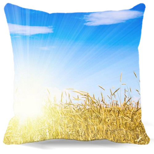 Golden wheat and blue sky clouds Printed 40 45 48 cm cotton polyester Square Pillow Cases For car chair Coffee Shop Home Decorat