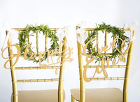 Wedding Chair Signs Happily Ever After Fairytale Chair Decorations For Sweetheart Table Bride And Groom Signs