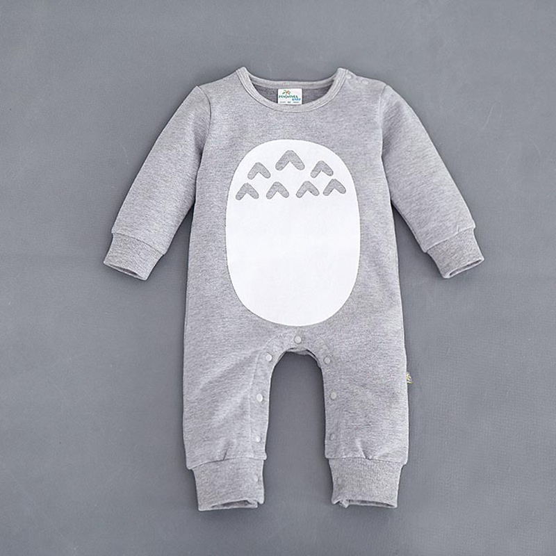 2019 Spring Autumn Newborn Baby Boy   Romper   Long Sleeve Jumpsuit Cartoon Animal Infant Overalls Babies Clothes Roupas De Bebes
