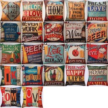 Bar Theme Cushion Cover