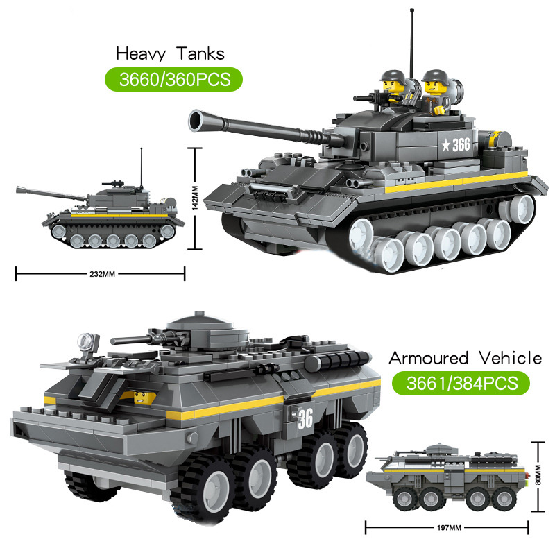 Military Army Panzer Heavy Tanks Building Blocks Armored Car Vehicle Model Toys Soldiers Weapons Accessories Bricks For Children tumama 829pcs military blocks toy 8 in 1 warship fighter tank army soldiers bricks building blocks educational toys for children