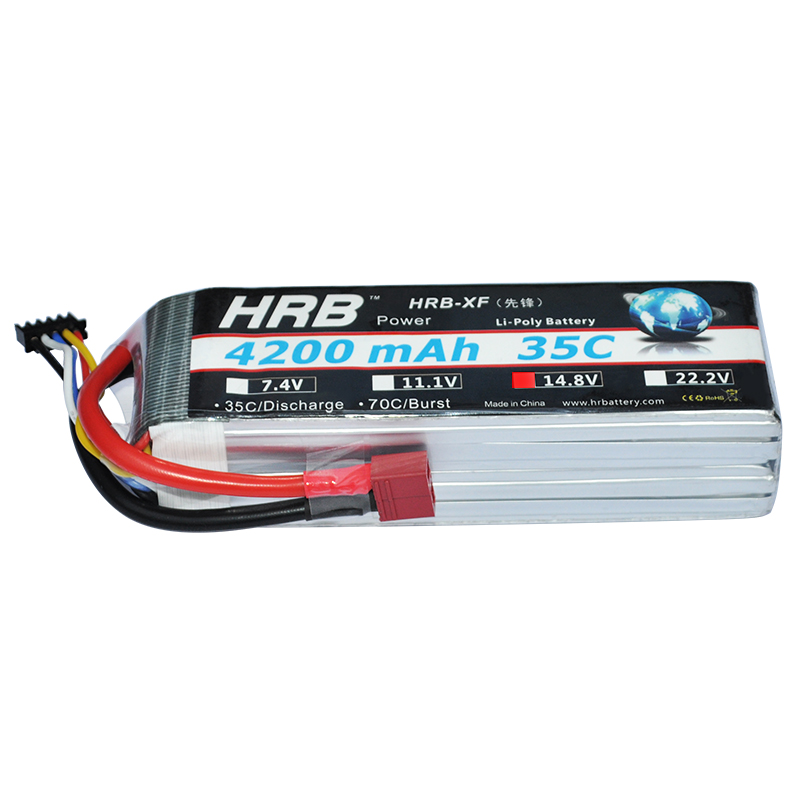 2pcs HRB RC Lipo 4S Battery 14.8V 4200mAh 35C MAX 70C RC Bateria Drone AKKU For Helicopters RC Car Models Quadcopters Airplane xxl high power 3300mah 14 8v 4s 35c max 70c 4s1p akku lipo rc battery for trex 500 helicopter page 8