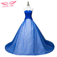 AnXin SH Strapless Sleeveless Sweet Princess Bride Wedding Dresses Winter Delicate Elegant Wedding Gown Vestido De