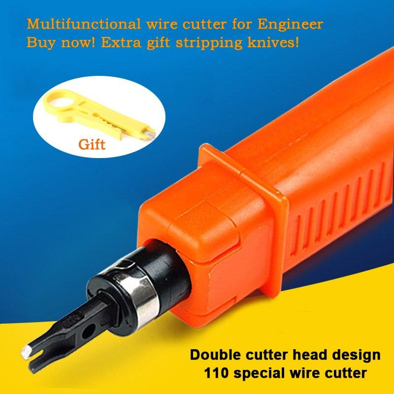 Coût-efficace Ingénieur 110 fil cutter AMP Module fil outil Double tête Pour Réseau voix Téléphone module panneau de Brassage