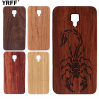 Hand Carving Bamboo Wooden Phone Case For Xiaomi Mi4 Mi 4 Animal Scorpion Pattern Luxury Back