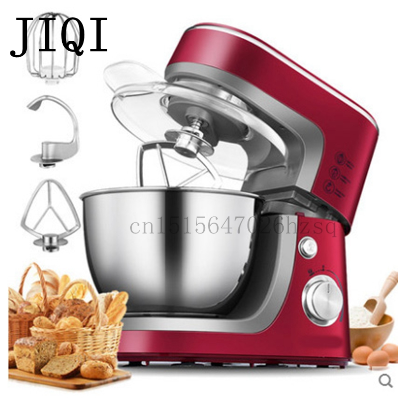 JIQI Electric stand food mixer For Home use or commercial use 10 files,3.5 Liters,cooking mixer, egg beater, dough mixer machine 7l high quality commercial planetary mixer food stand mixer egg beater dough mixer