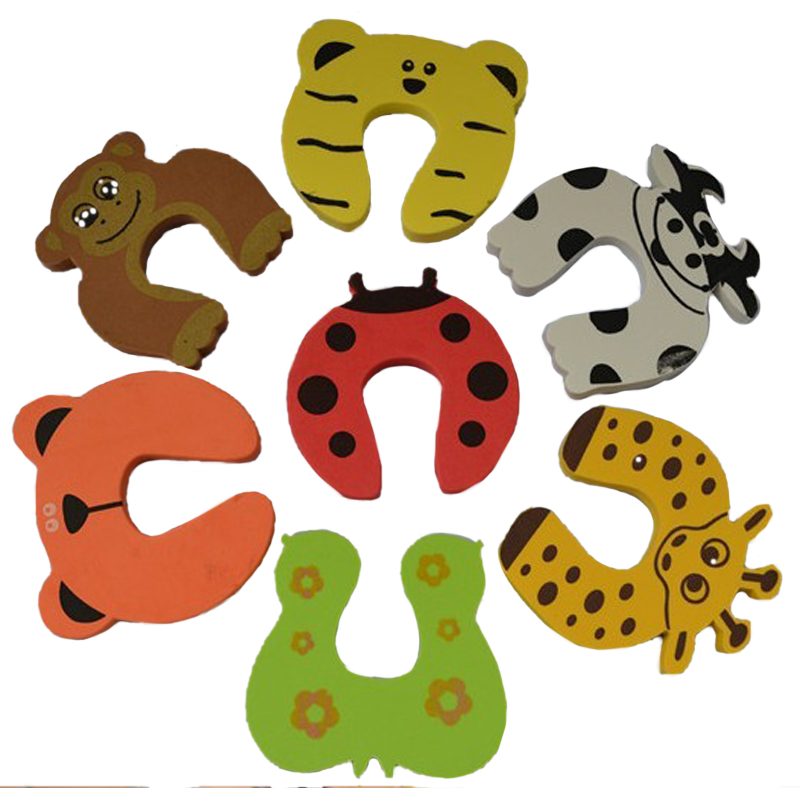 1 Pc Babies Safety Cartoon Animal Door Stopper Eco-friendly Door Clip (Random Pattern)