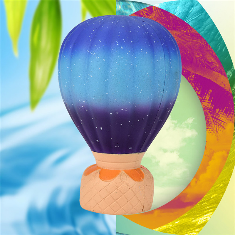 Jumbo Galaxy Fire Balloon Scented Squishy Charm Slow Rising Stress Reliever Toy