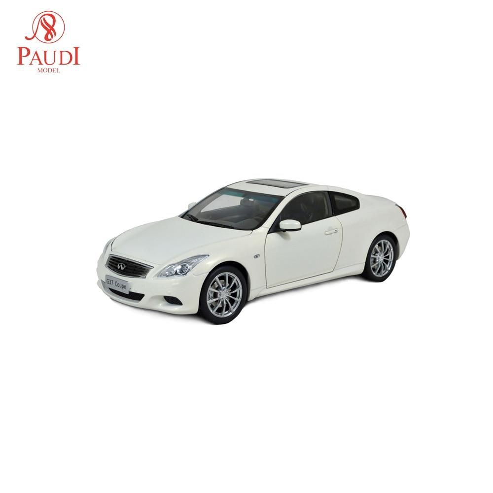 Paudi Model 1/18 1:18 Scale Infiniti G37 coupe 2013 White Diecast Model Car Toy Model Car Doors OpenPaudi Model 1/18 1:18 Scale Infiniti G37 coupe 2013 White Diecast Model Car Toy Model Car Doors Open