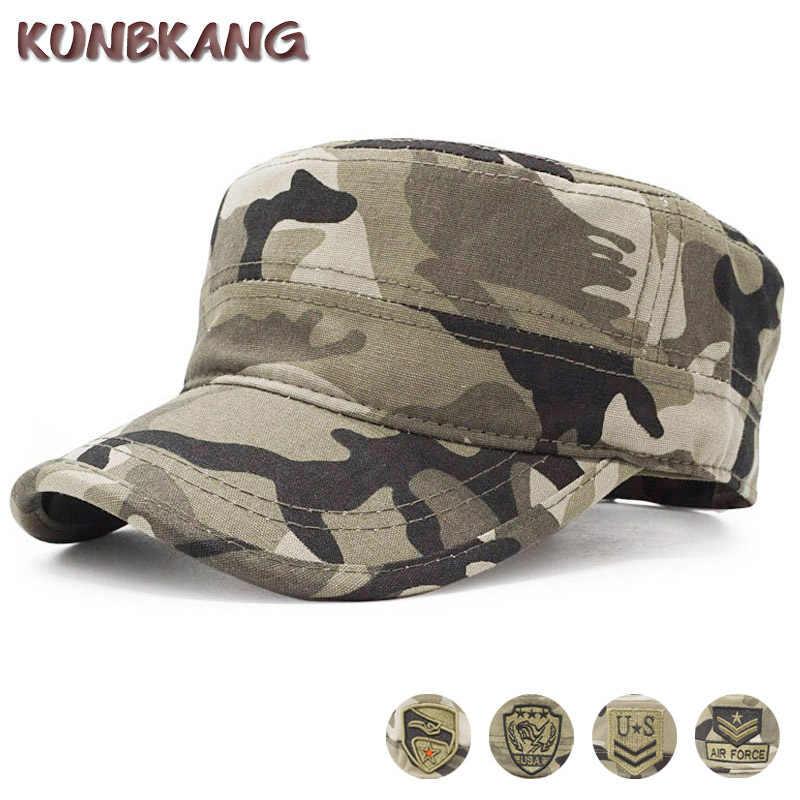 2019 Camouflage หมวกเบสบอลชาย/ยุทธวิธี US Army/นาวิกโยธิน/Navy/หมวก Trucker Flat Caps ผู้ชายเบสบอล camo หมวก Snapback Gorras