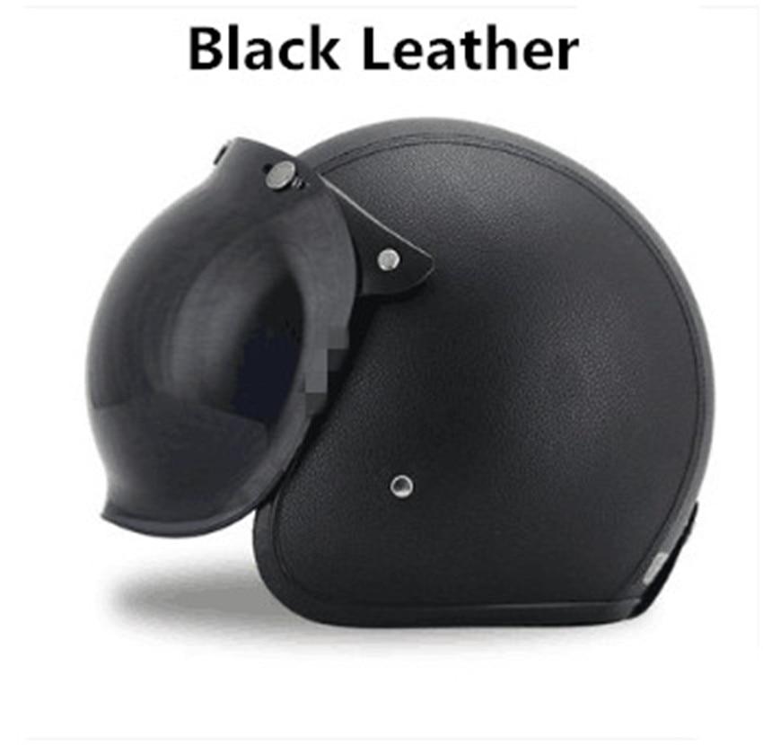 2018 brand black adult leather harley helmets for. Black Bedroom Furniture Sets. Home Design Ideas