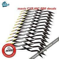 MAVIC CXR 60c bike stickers road bike wheelset decals 60mm rim depth carbon rim stickers
