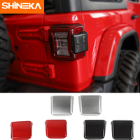 SHINEKA Stickers for Jeep Wrangler JL 2018 Up 3D Car Rear Tail Light Lamp Decoration Cover Trim Stickers Exterior Accessories