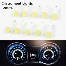 10 шт./лот W1.2W разъем T5 светодиодный 12 В Авто боковой Клин манометр приборной панели прибор светильник лампа для toyota honda nisan vw ford