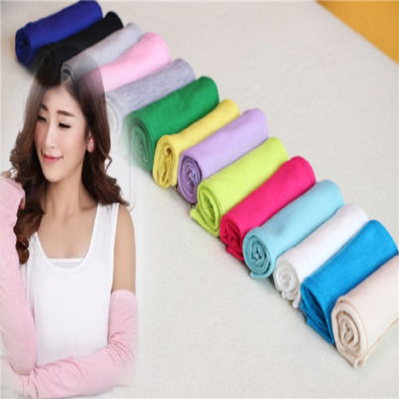 1 Pair 20 Colors Cosy Women Girl Arm Warmer Cotton Long Fingerless Gloves Fashion Clothing Accessories