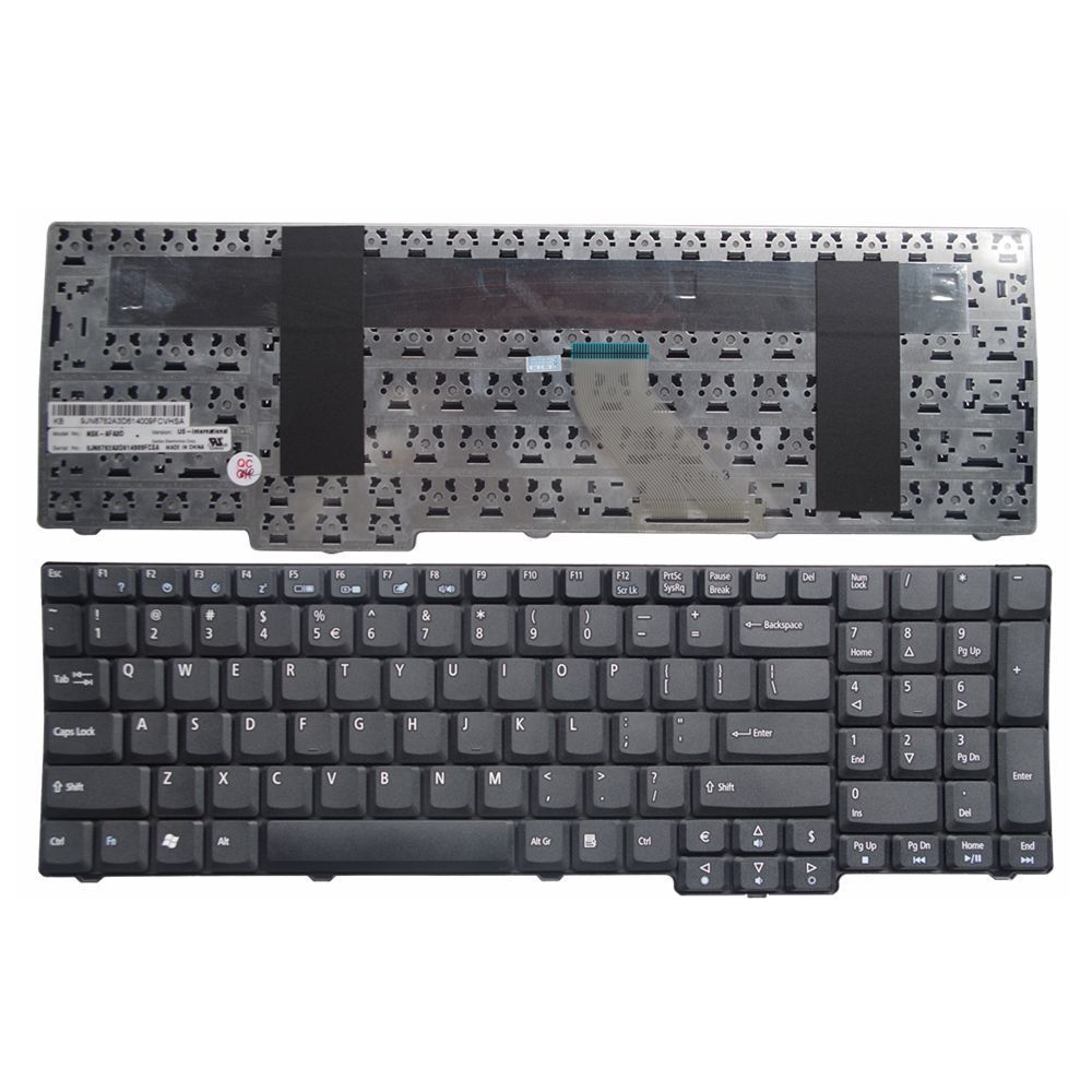 US Black New English Laptop Keyboard For Acer Aspire 7720 7520 7520G 7535 9420 5110 5600 7730 7630 6930 9410 5737 7100 8930