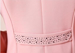 Image 5 - Kadın Blazers 2018 Artı Boyutu L ~ 4XL 5XL Dış Giyim Rahat Ince Kısa Bayan Blasers Mont ceket Broş ile Chaqueta mujer Jaqueta