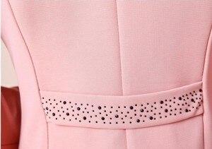 Image 5 - Vrouwen Blazers 2018 Plus Size L ~ 4XL 5XL Uitloper Toevallige Slanke Korte Lady Bläsers Jassen Jassen met Broche Chaqueta mujer Jaqueta