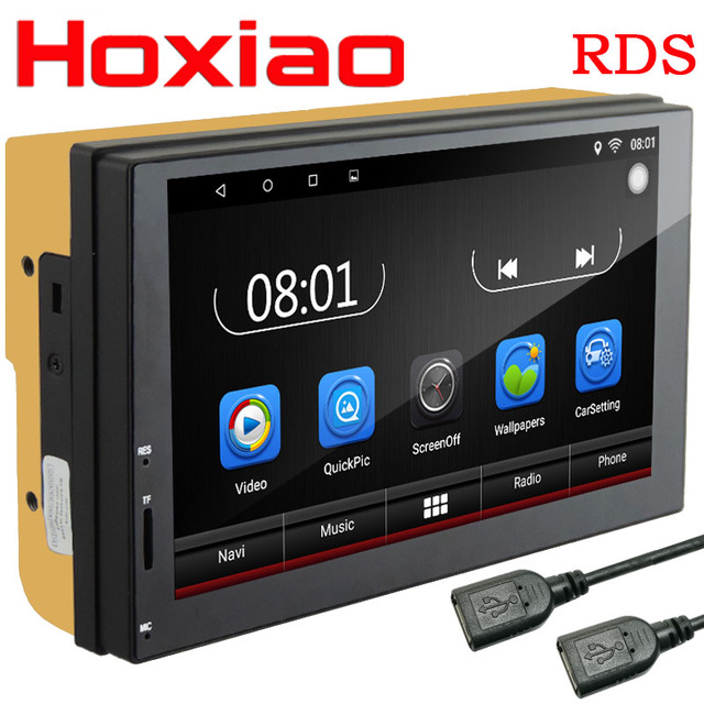 2 Din gps Android 6.0 Car DVD radio Player 1GB 16GB Quad core multimedia Double Din for kia Ford Nissan Toyota Volkswagen Mazda