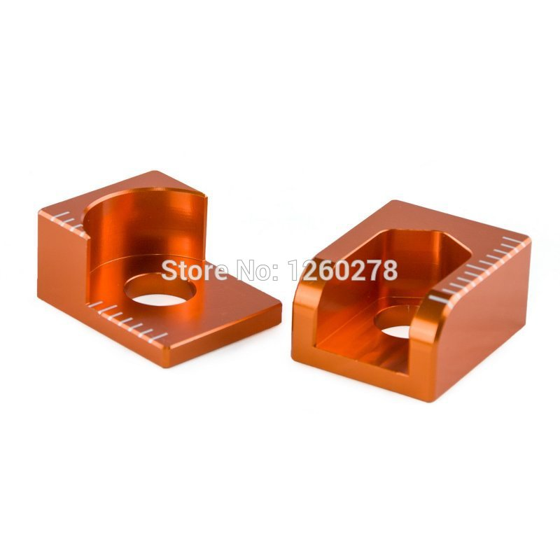 ORANGE REAR AXLE BLOCKS For KTM 65 SX XC 2003 2004 2005 2006-2015 Motocross Motorcycle Enduro Dirt Bike