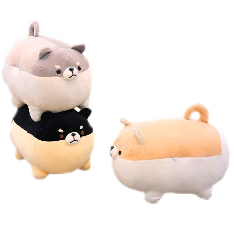 New Super Soft Angary Fat Shiba Inu Plush Toys Corgi Dog Animal Stuffed Toys Children's Toys Soft Sofa Pillow Cushion Girl Gifts