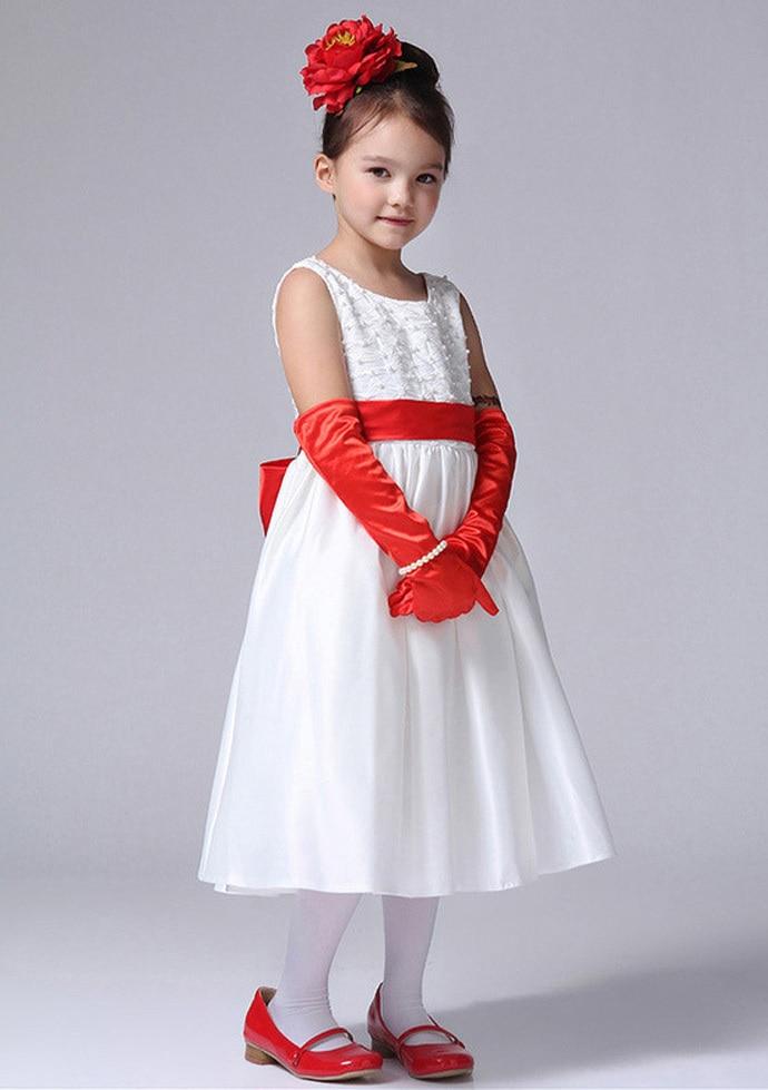 Little girl dress frock cotton flower girl party dress ...