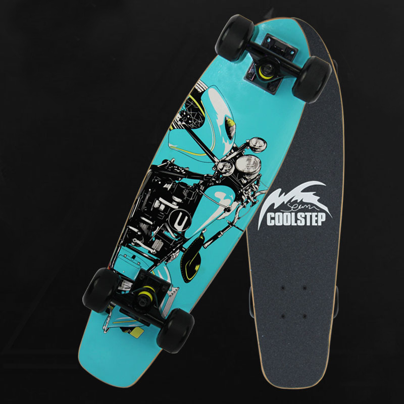 Skateboard 7 Layer Canadian Malpe Skate Board Adult Brush Street Fish Board Four-wheels Longboard Banana Board Fish Plate Slide 2016 new peny board skateboard complete retro girl boy cruiser mini longboard skate fish long board skate wheel pnny board 22