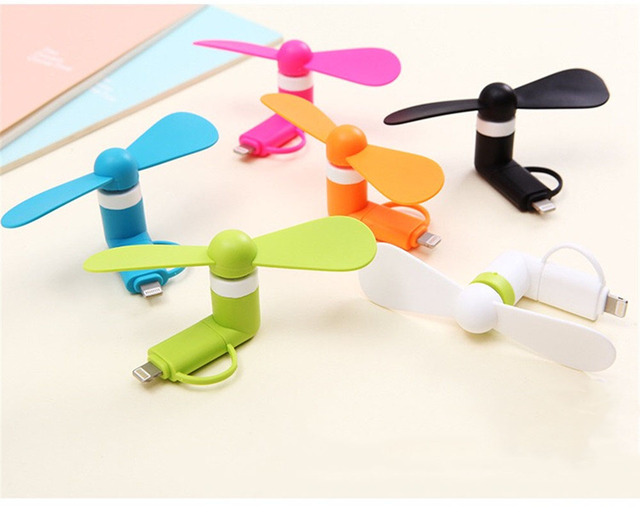 Travel Portable CellPhone Mini Fan Cooling Cooler For Micro USB For iPhone 5 5S SE 6 6S Plus 8 Pin iPhones 6s 7s 8 Plus