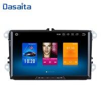 Dasaita 9 Android 8.0 Car GPS Radio Player for Seat Leon Alhambra Altea Toledo with Octa Core 4GB+32GB Auto Stereo Multimedia