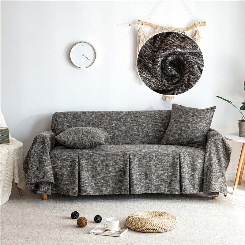 Sofa Cover Cotton Linen Sofa Towel Sofa Slipcovers Modern Non-slip Sofa Covers for Living Room Couch Cover Furniture Covers 1PC
