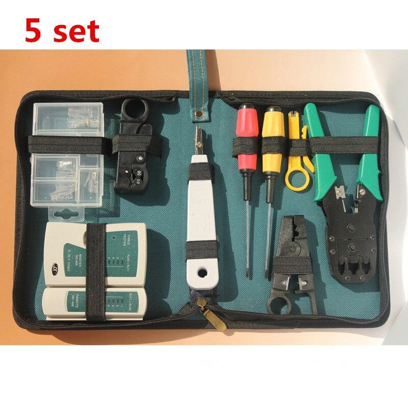 5 наборов 11 в 1 Набор инструментов для обслуживания компьютерных сетей Набор инструментов для ремонта компьютерной сети Набор инструментов