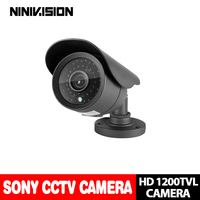 Sony 1200TVL CCTV Outdoor Waterproof Video Surveillance Security Night Vision Cameras 3 6mm Fixed Lens For