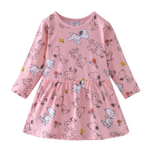 Children Costume Robe Fille Kids Party Dresses Girls Dress with Animal Applique Long Sleeve Princess Dress Baby Girl Clothes