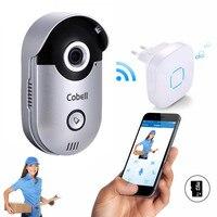 Cobell Video Doorbell Camera 720P HD Wifi Doorbell Smart Door Intercom Motion Detection Alarm Built In