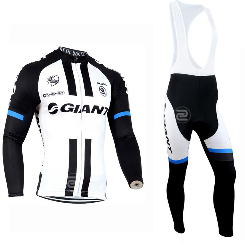 Men Long Sleeve Bicycle Cycling Jersey Pro font b Team b font Bib Suit Mountain Bike