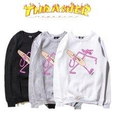 Thrasher Magazin Männer Hülse Sweatshirt Hohe Qualität Rosa Panther Trasher Hoodies Männer frauen sweatshirts Thrasher Pullover