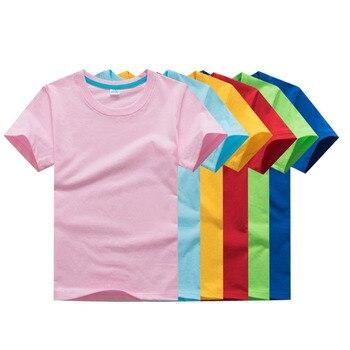 d0614f9a1 2 unids/lote niños y niñas camiseta 8 colores algodón niños camisetas moda  casual bebé niños verano camisas 2 3 4 5 6 7Y ropa de los niños