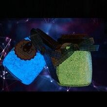 10 г светится в темноте светящиеся вечерние DIY яркие фосфоресцирующие песочные краски звезда Желая бутылка флуоресцентные частицы подарок для детей Горячая