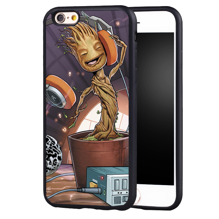 for guardian of the galaxy Groot music style original protect edge case cover For iPhone 5 5C 5S SE 6 6plus 6S 7 7Plus
