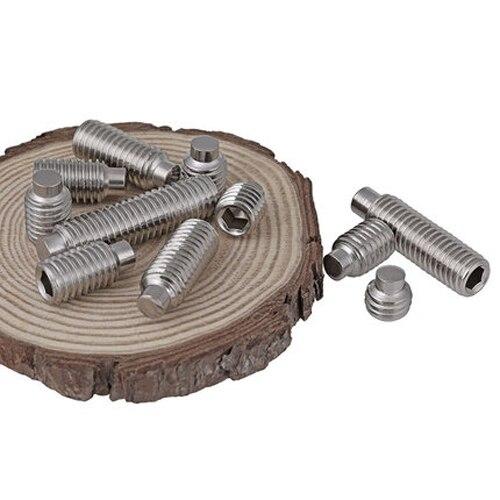 US $12 99 |5pcs M10 304 Stainless steel allen convex end set screws grubs  inner hexagon headless screw grub 10mm 40mm length DIN915-in Screws from