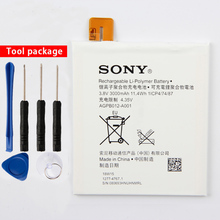 Original Sony AGPB012-A001 Phone Battery For Sony Xperia T2 Ultra D5303 D5306 D5322 XM50t XM50h 3000mAh lcd display touch screen digitizer assembly for sony xperia t2 ultra d5303 d5306 xm50t xm50h d5322 front outer glass white black