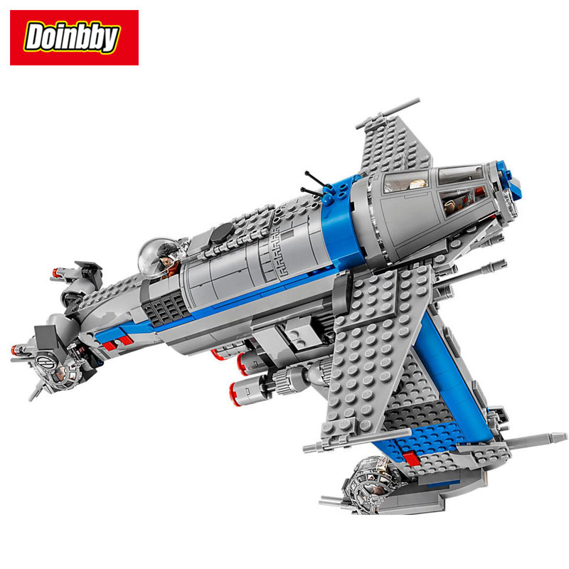 Lepin 05129 873Pcs Star Series Wars Resistance Bomber Building Block Brick DIY Toys Kids Gift Compatible 75188 lepin 05040 y attack starfighter wing building block assembled brick star series war toys compatible with 10134 educational gift