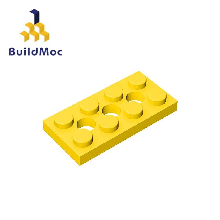 BuildMOC Compatible Assembles Particles 3709 2x4 For Building Blocks Parts DIY LOGO Educational Tech Parts Toys