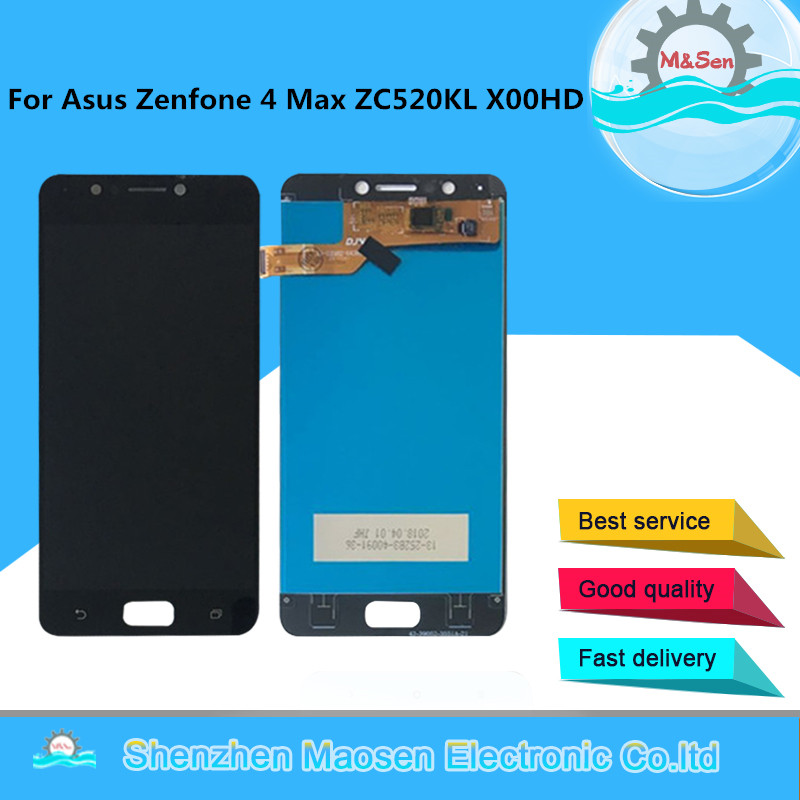 M&Sen For 5.2 Asus Zenfone 4 Max ZC520KL X00HD LCD screen display+touch panel digitizer display For asus zenfone 4 max ZC520kl