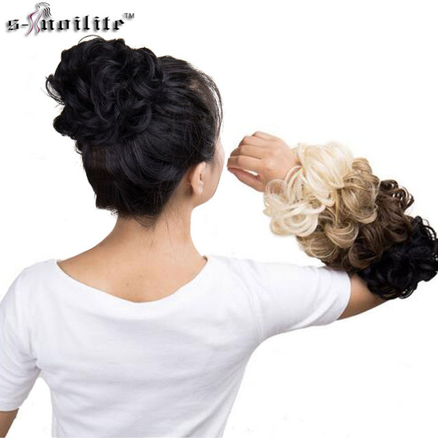 Snoilite Curly Heat Resistant Synthetic Hair Pieces Colors Women