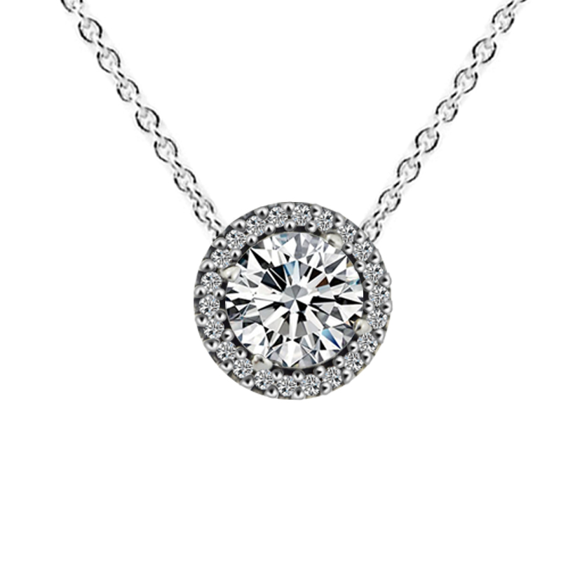 Classic Elegance Pendant & Necklace with Clear CZ 100% 925 Sterling Silver Fine Jewelry Free Shipping Classic Elegance Pendant & Necklace with Clear CZ 100% 925 Sterling Silver Fine Jewelry Free Shipping