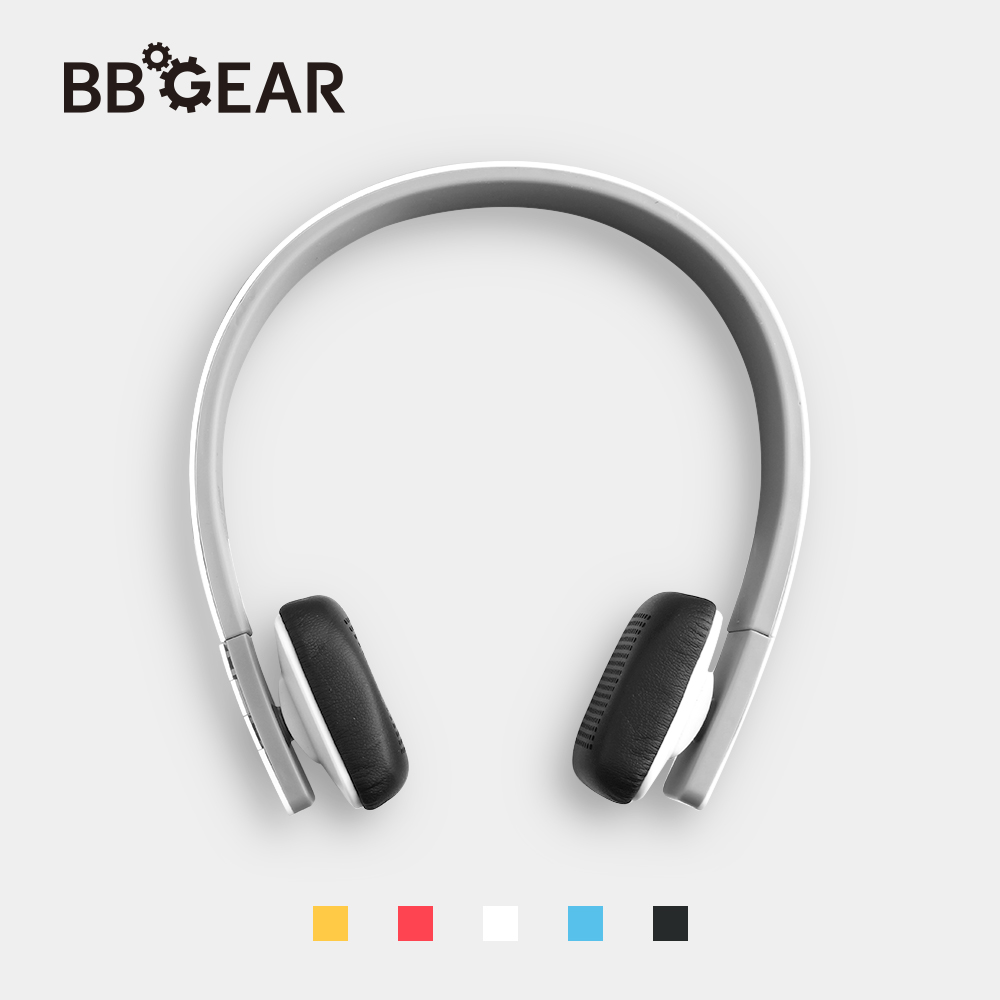 BBGear Bluetooth Headset Portable Handband Sport Headphones with Hands-free Microphone Wireless Stereo Music Earphone for iphone