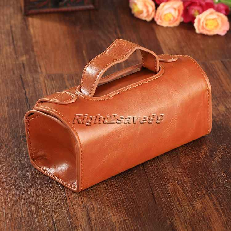 ... Men PU Leather Travel Toiletry Bag Shaving Wash Case Organizer Bag Dark  Brown For Protect Shaver ... a9fc8ef6675b9